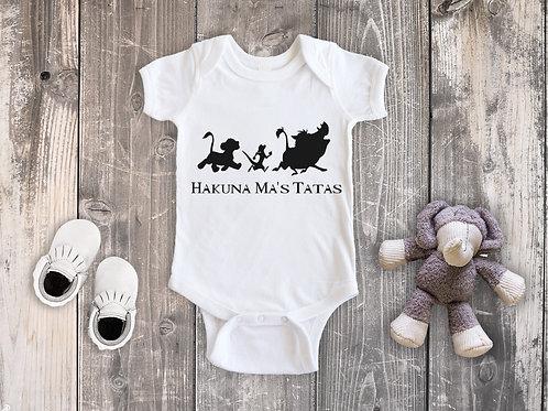 Hakuna Ma's Tatas White Onesie