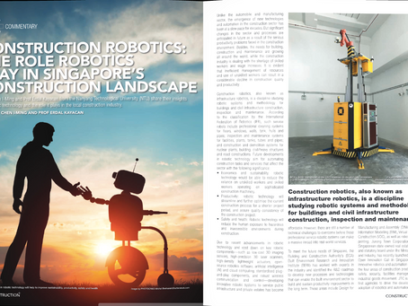 Construction+ magazine features Transforma's robots in its Dec 2017 issue