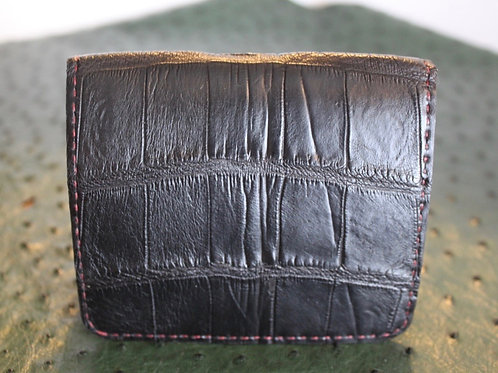 Billfold wallet with sewn edge