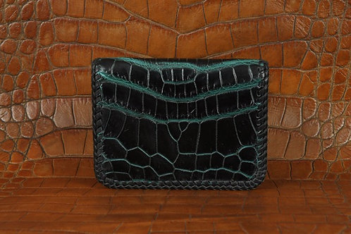 Folding cardholder with double lace