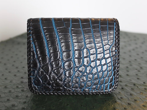 Billfold wallet with double lace