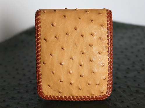 Long billfold wallet with double lace