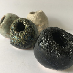 small textured pinch pot 'pebble vessels'