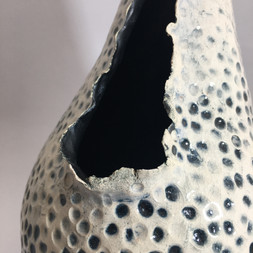 detail of coiled textured eartherware vessel