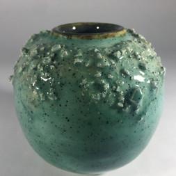 earthernware textured moon jar