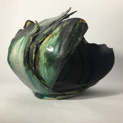 stoneware clay layered sculptural form
