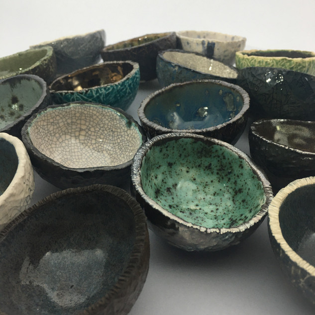 mixed earthernware mini bowls