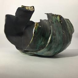 stoneware clay layered culptural form