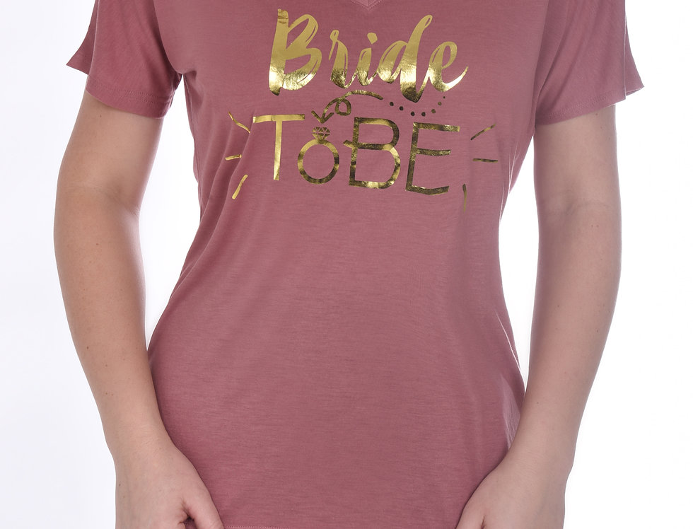 Bride To Be Relaxed T-Shirt - Rose