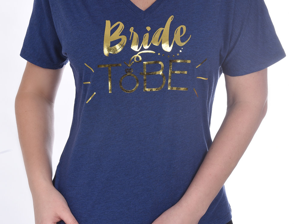 Bride To Be Relaxed T-Shirt - Blue