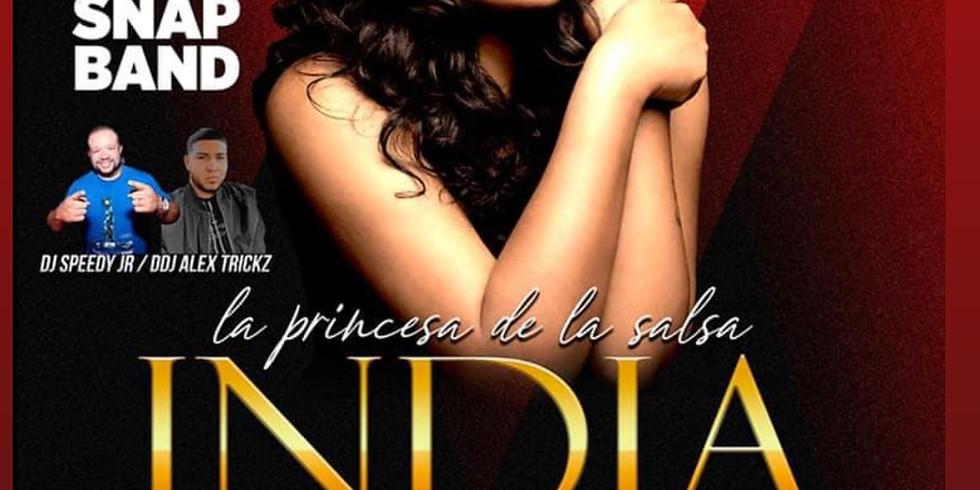 """India la """" princesa de la salsa """" en concierto"""