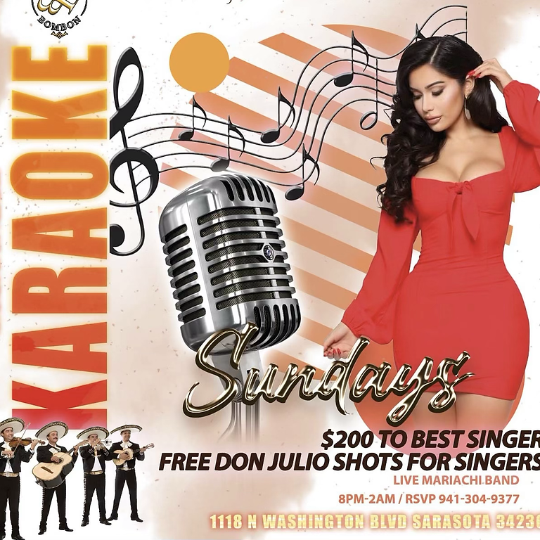 Karaoke Sundays5pm-9pm