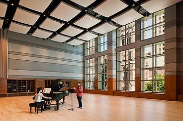 Rehearsal Hall, Performance Space, lighting grid, adjustable acoutics