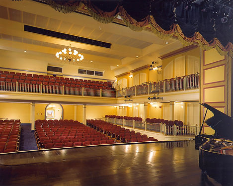 Newberry Opera House, Newberry, SC, Historic Theater Interior, Historic lighting, historic reproduction theater seat