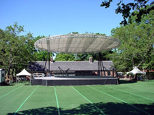 Summer Stage, NYC, outdoor stage, lighting canopy