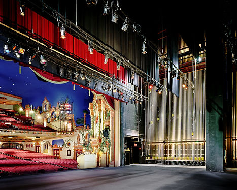 Akron Civic Theater, Akron, OH, Historic Theater, Backstage, stage lighting, rigging