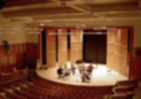 Enlow Hall/Kean State U., Tracked acoustic panels, house lighing fixtures, box seating, stage lighting