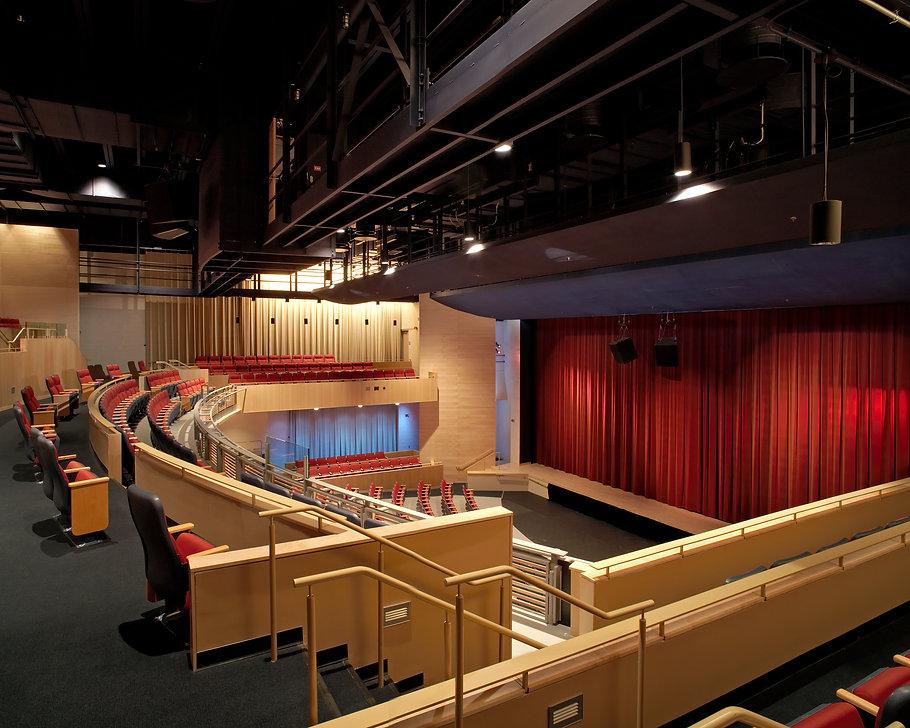 Darien High School, Darien, CT, High School Performing Arts Center, House Curtain, Balcony, Catwalks