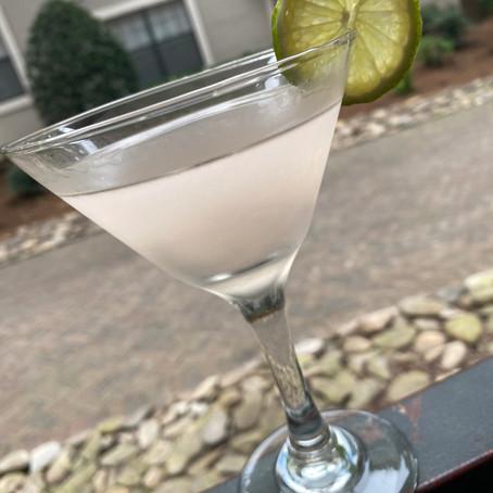 Lavender Citrus Peel Martini
