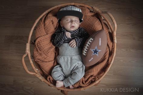 Kuukauden ikäisen vauvan valokuvaus