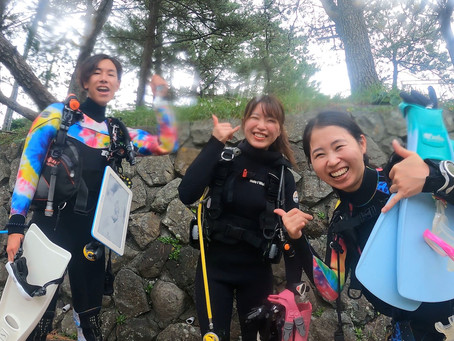 堂ヶ島で海中温泉☆ダイビング〜♨️