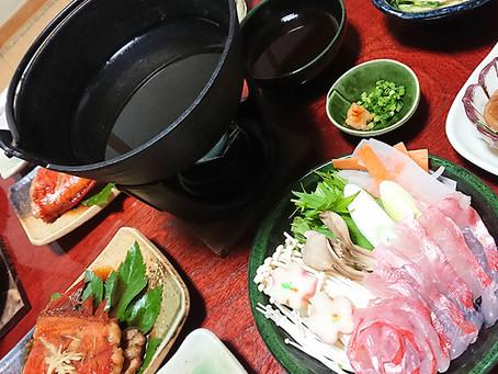 神津島に地物☆金目しゃぶしゃぶ食べに行こ〜🐟
