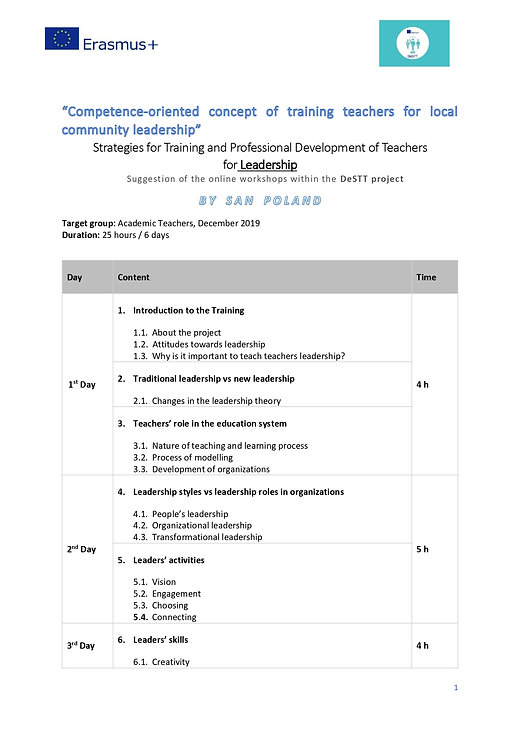 Strategies for Training and Professional