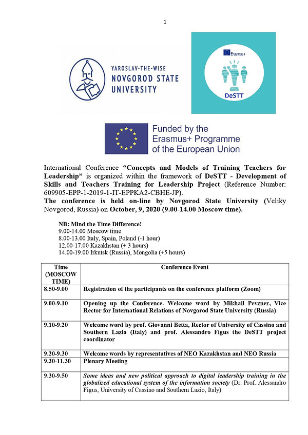 Program of DeSTT International Conferenc