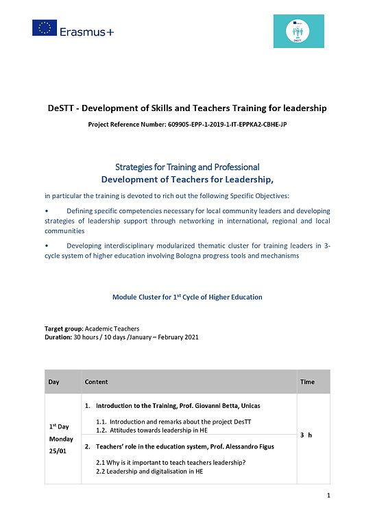 Training Teachers Traing for Leadership