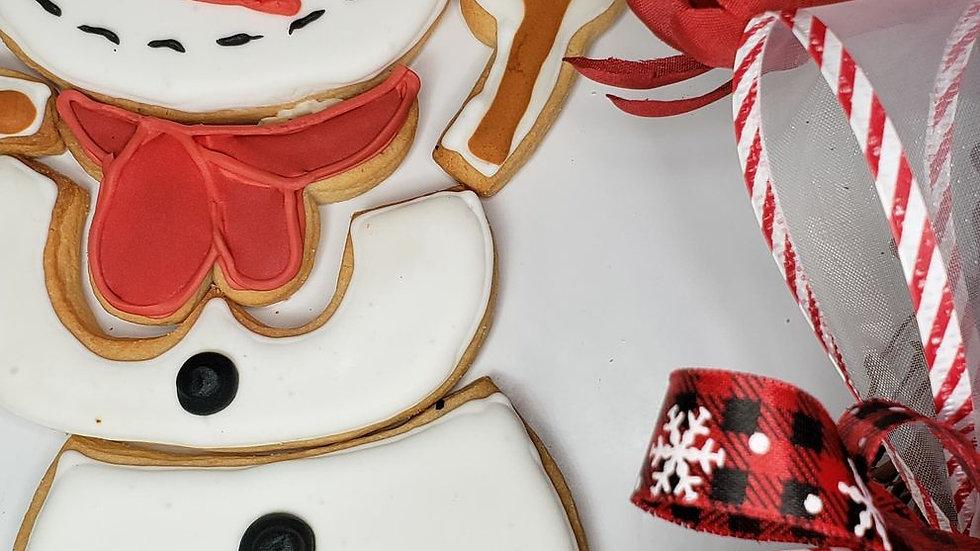 Snowman puzzle cookie