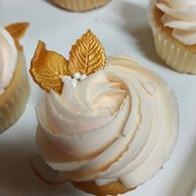 blush wedding rose cupcakes