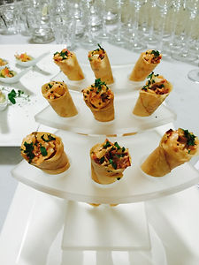 Lobster Roll Cones with Smoked Paprika a