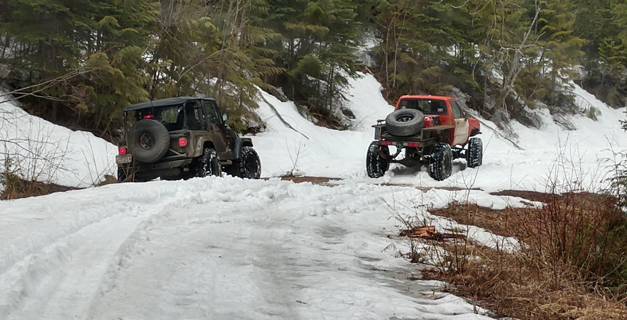 First deep snow we found