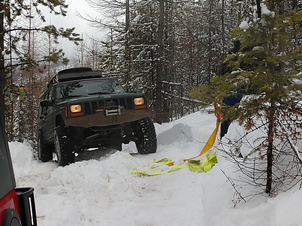 Bashing in the snow