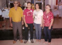 Clécio, Kevin, Andréia e Judith