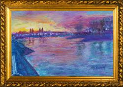 Kolblenz Bend-20X29-Oil Pastel-Monique H