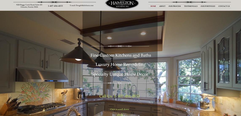 Hamilton Kitchens website