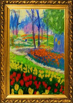 Tulip Festival-Chalk-Pastel 18.5X20