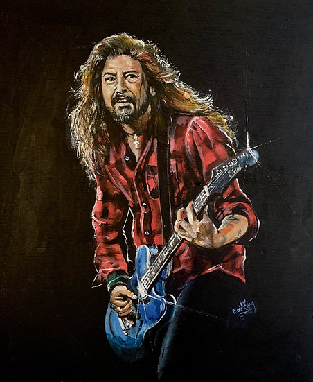 Dave Grohl Red Shirt