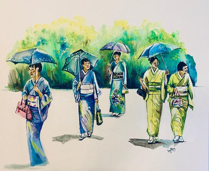 Kimonos in Sunlight