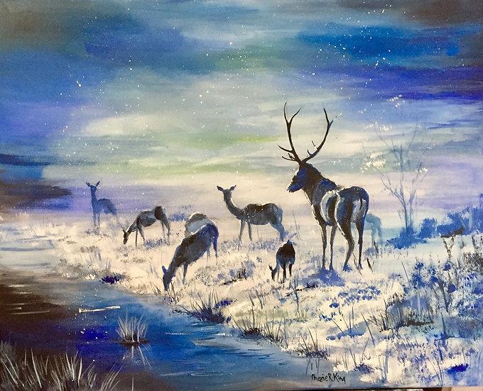 Frosty Deer 1