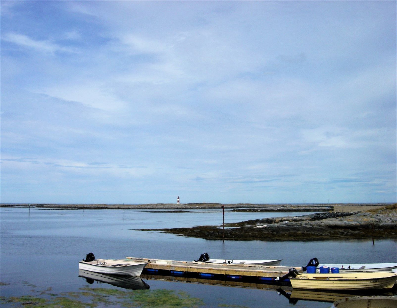 #502 båtar och fyr, norge