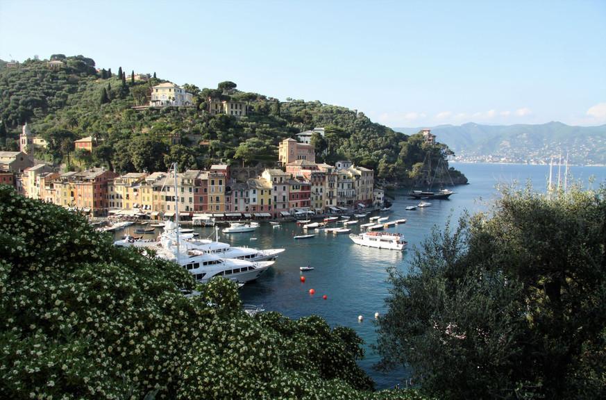 #111 hamnen i portofino, italien