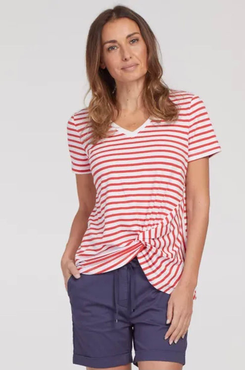 Tribal Knot Front Modal Tee