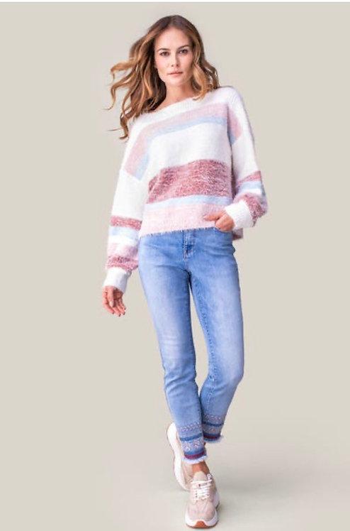 Tribal Boat Neck Sweater