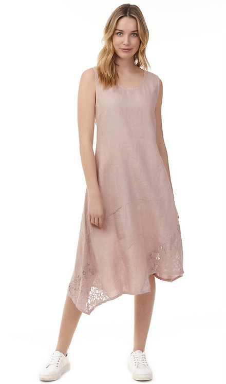 Charlie B Asymmetric Dress with Lace