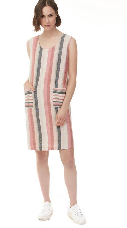 Charlie B Striped Linen Dress