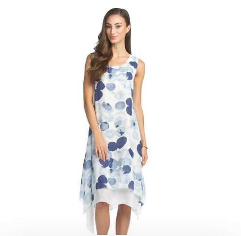 Papillon /Funsport Blue Polka Dot Maxi Dress