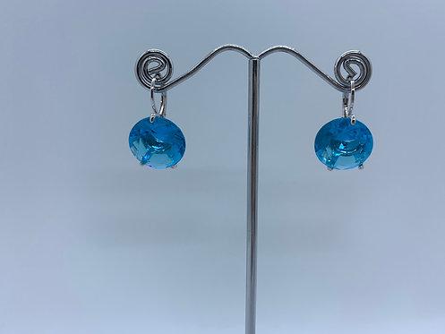 Crystal Earrings - Blue