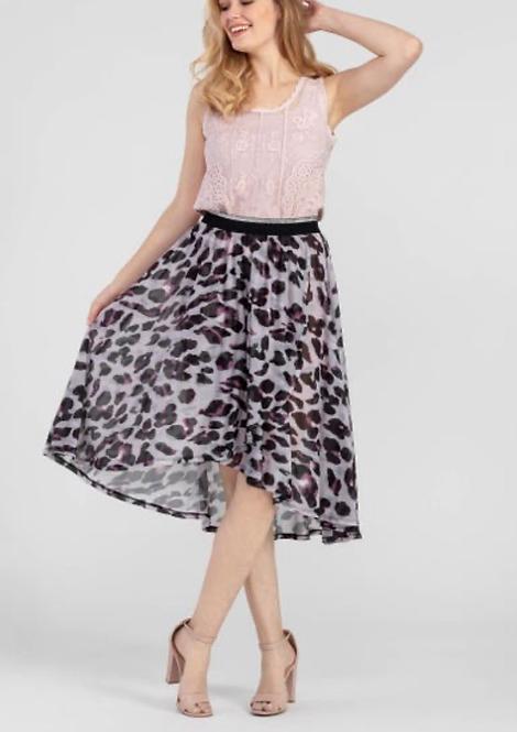 Tribal Hi/Lo Faux Wrap Skirt
